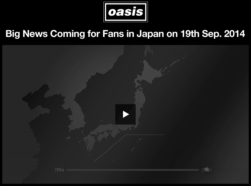 oasis news in japan