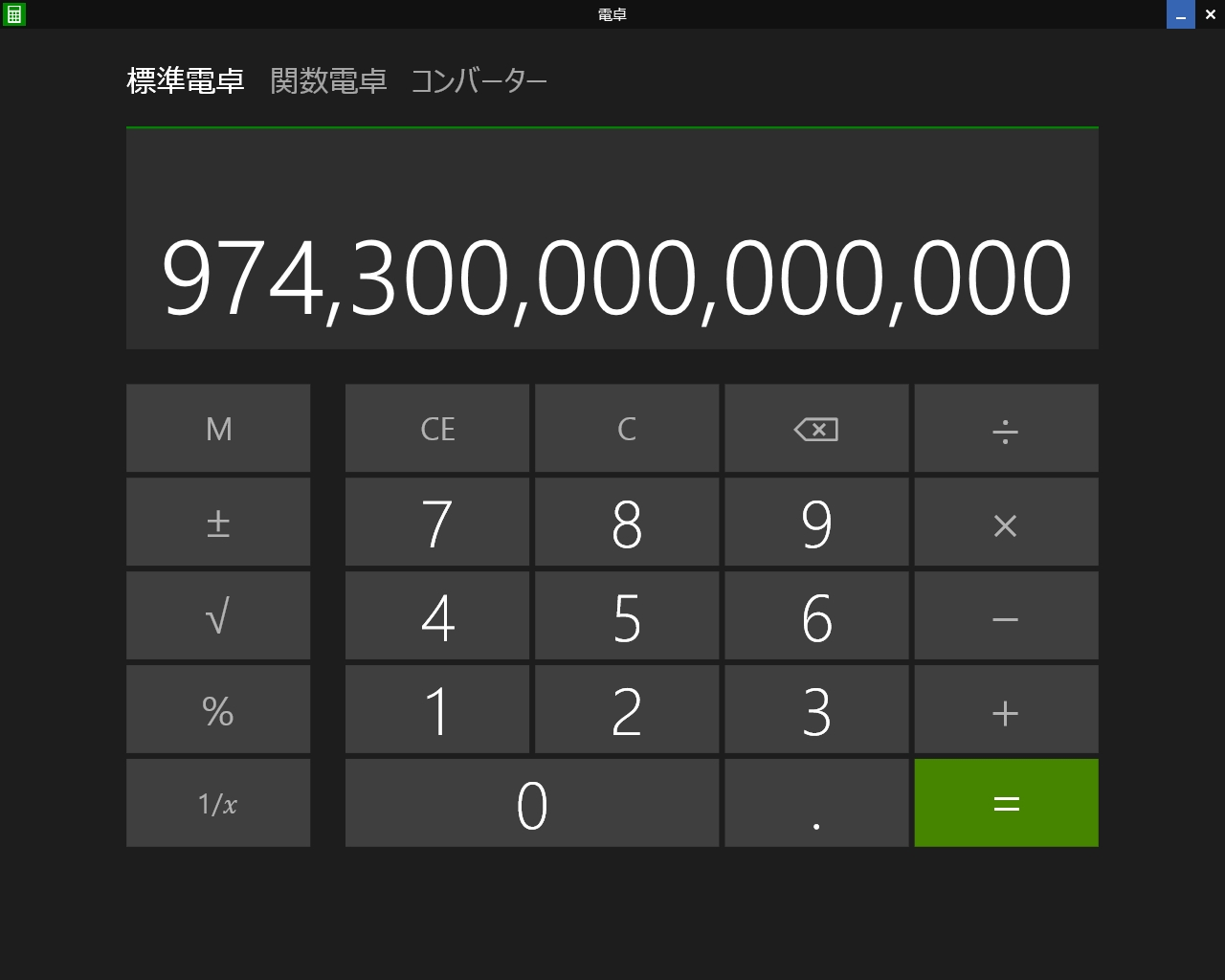 Windows8.1  Update 電卓