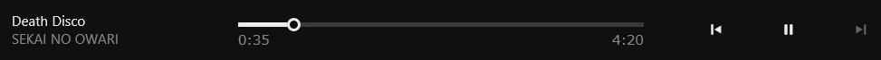 Windows8.1musicアプリケーション再生